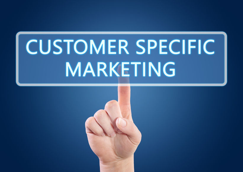 GIS for Marketing Agencies image of finger pointing to sign that says customer specific marketing